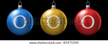 Letter O from christmas ball alphabet. There is a clipping path - stock photo