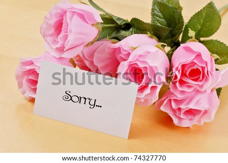 Letter Of Sincere Apology - stock photo