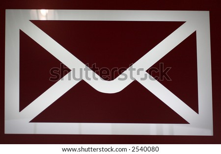 Letter or Email Sign - stock photo