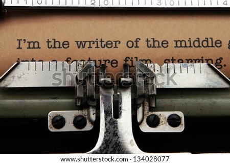 Letter to publisher - stock photo