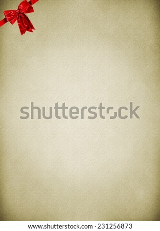 Letter to Santa Claus - empty card - stock photo