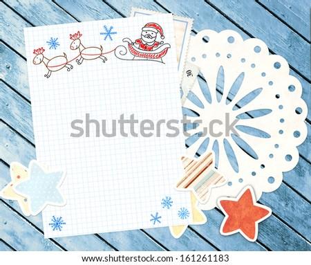 Santa Letter Backgrounds Letter to Santa Claus