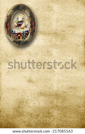 letter to santa, old sepia-toned letter with copy space for text - stock photo