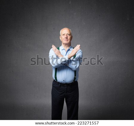letter x gestures with hands crossed - stock photo
