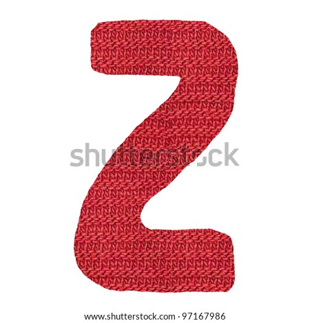 letter Z alphabet, knitted spokes structure - stock photo