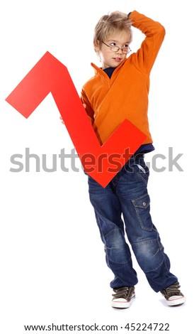 """Letter """"Z"""" boy - stock photo"""