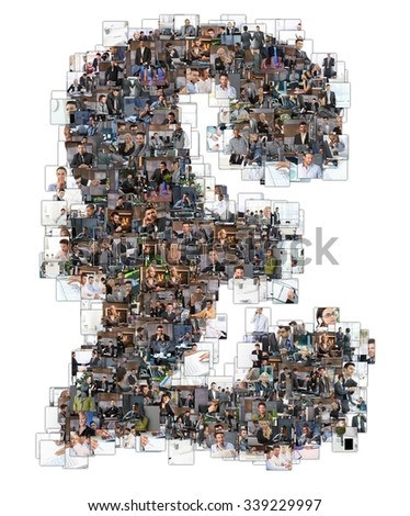 Letter Z photomosaic made of business photos of people. All the other letters of the ABC can be found in my protfolio - use the keyword photomosaic!only 10 models were used who's MRs are all attached. - stock photo