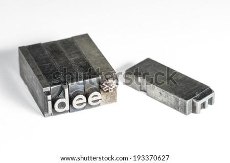 Letterpress - stock photo