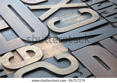 Letterpress background - stock photo