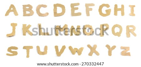 Letters from the torn paper by hand. - stock photo