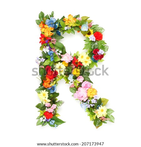 S Alphabet In Flowers Floral alphabet Stock Photos, Images, & Pictures | Shutterstock
