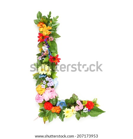 S Alphabet In Flowers Alphabet With Flower Stock Photos, Illustrations, and Vector Art