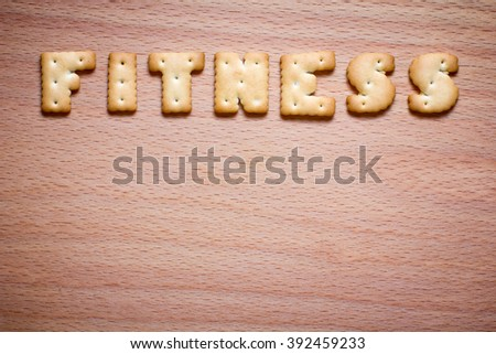 letters of the inscription cookies - stock photo