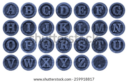 letters - stone grunge font - design elements - stock photo