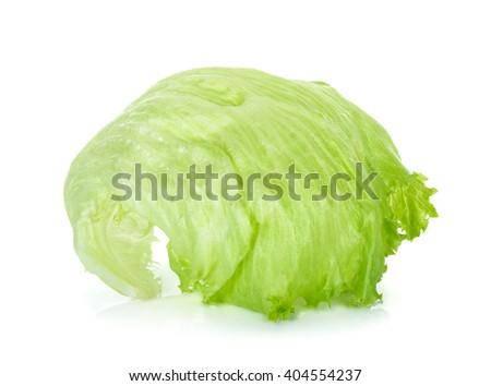 lettuce leaf isolated on the white background. - stock photo