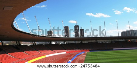 Letzigrund stadium in Zurich - stock photo