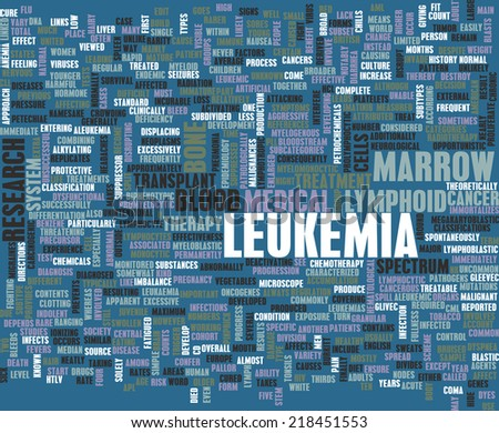 Leukemia Cancer Concept as a Medical Abstract - stock photo