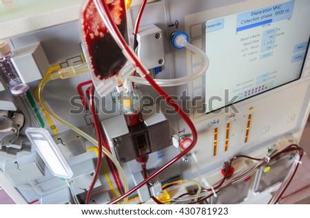 leukemia stem cells cancer blood transfusion - stock photo