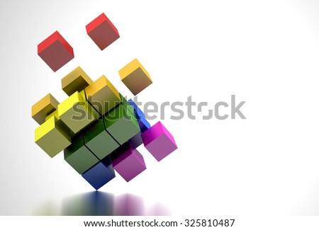 LGBT Flag in the Form of Cubes. Gay and Lesbian Rights. - stock photo