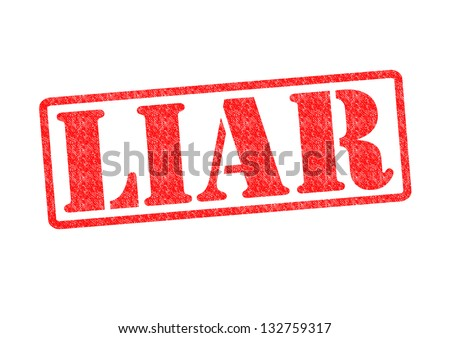 LIAR Rubber Stamp over a white background. - stock photo