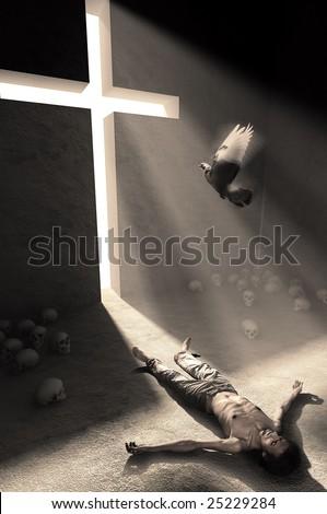 liberation - stock photo