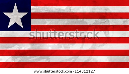Liberia Flag - stock photo