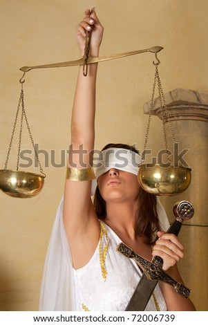 Libra or Scales, this photo is part of a series of twelve Zodiac signs of astrology - stock photo