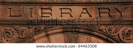Library - stock photo