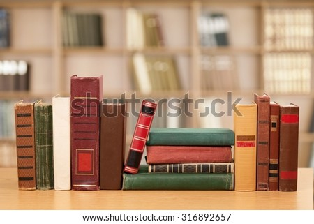 Library Books. - stock photo