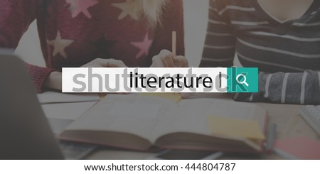 Library Literature Knowledge Book Fiction Novel Media Concept - stock photo