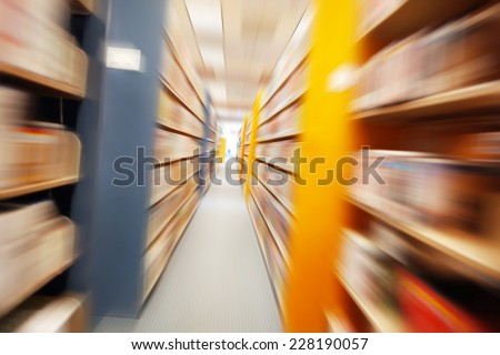 Library Motion blur - stock photo