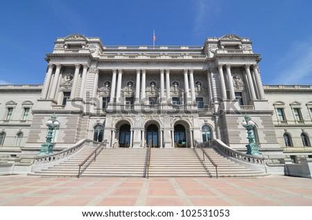 Library of Congress - Washington DC United States - stock photo