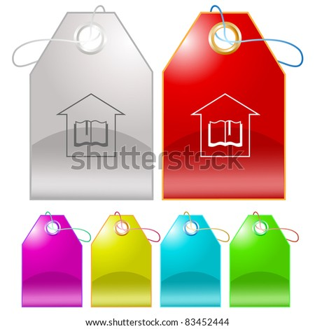 Library. Raster tags. Vector version is in my portfolio. - stock photo