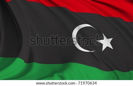 Libya flag Hi-Res collection - stock photo
