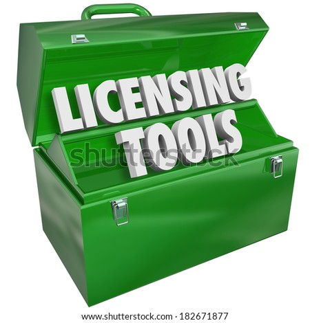 Licensing Tools Toolbox Authorization Official Certification - stock photo