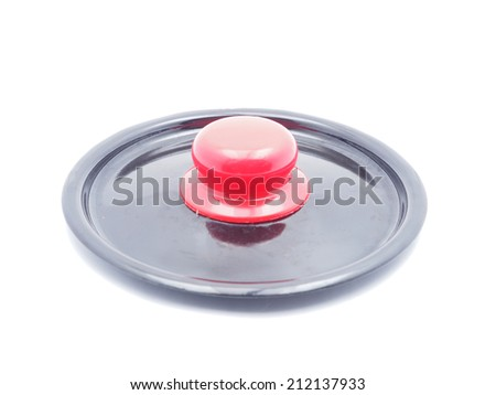 lid from the pan on a white background - stock photo