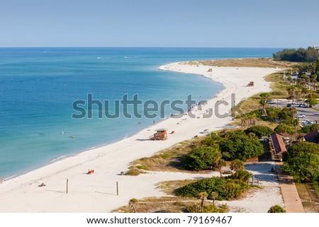 Lido Beach in Siesta Key, Sarasota, Florida - stock photo