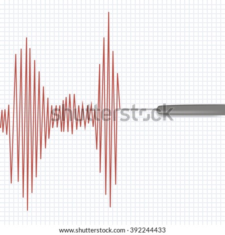 Lie detector test  - stock photo