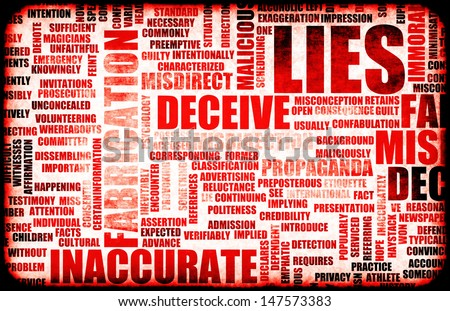 Lies and the Spreading of Fake Information - stock photo