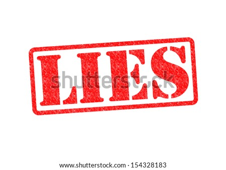 LIES Rubber Stamp over a white background. - stock photo