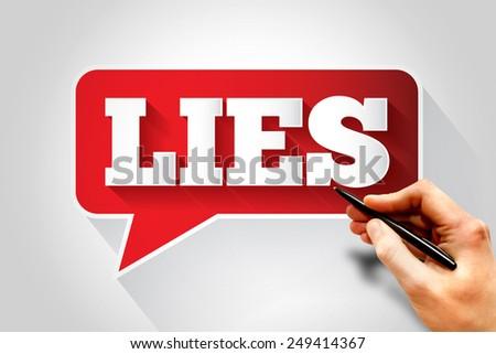 LIES text message bubble, business concept - stock photo
