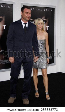 "Liev Schreiber and Naomi Watts at the Los Angeles Premiere of ""Salt"" held at the Grauman's Chinese Theater in Los Angeles, California, United States on July 19, 2010.  - stock photo"