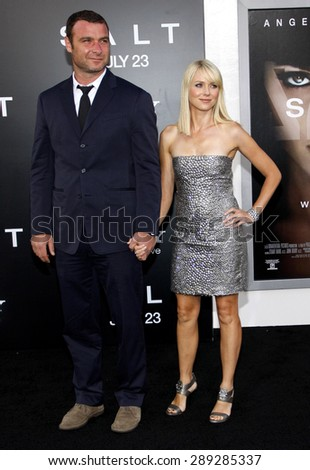 "Liev Schreiber and Naomi Watts at the Los Angeles premiere of 'Salt"" held at the Grauman's Chinese Theatre in Hollywood on July 19, 2010.  - stock photo"