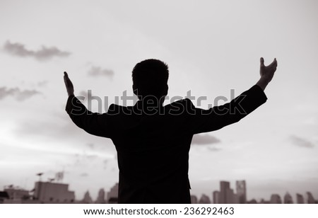 Life achievements and success concept - stock photo
