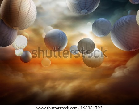 life after death, religious fantasy illustration - stock photo