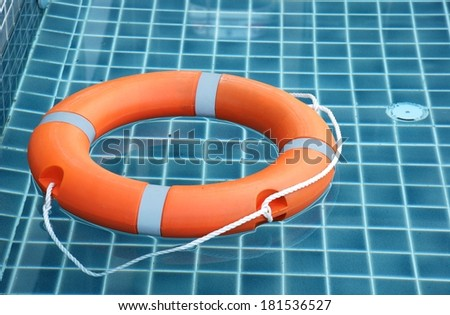 Life buoy, for the emergency case - stock photo