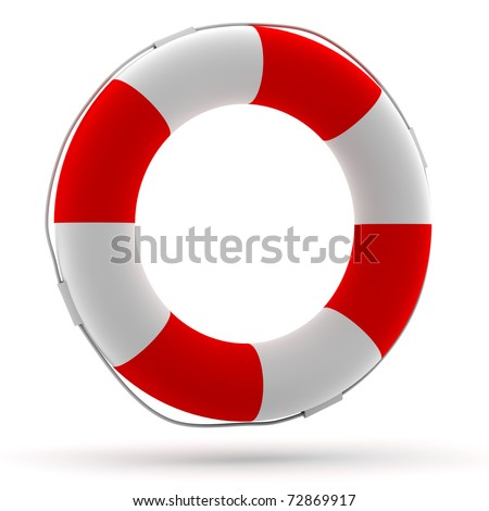 Life buoy front view - stock photo