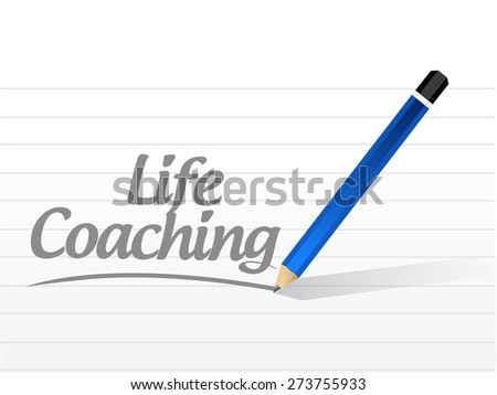 life coaching message sign icon concept illustration design over white - stock photo