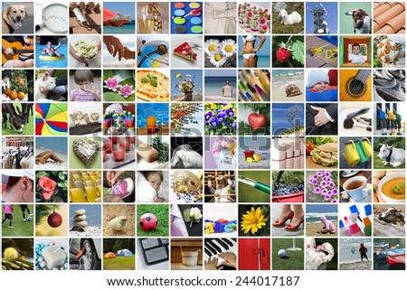 Life collage - stock photo