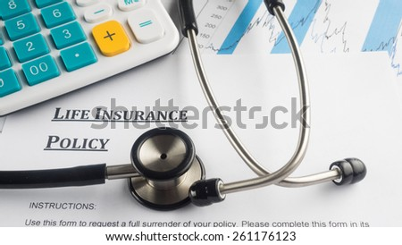 life insurance policy - stock photo